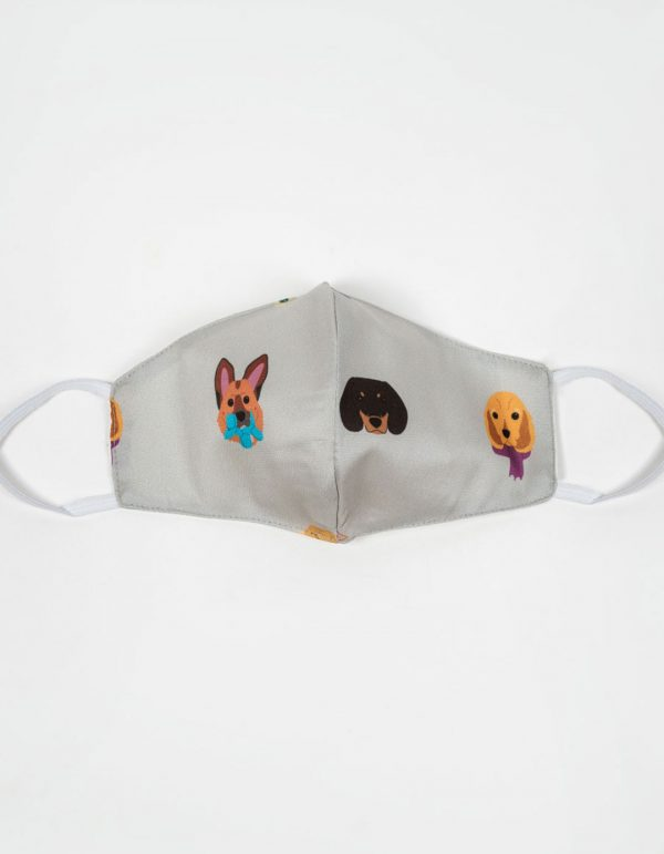 Gray Dog Mask
